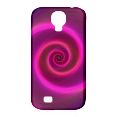 Pink Background Neon Neon Light Samsung Galaxy S4 Classic Hardshell Case (pc+silicone)