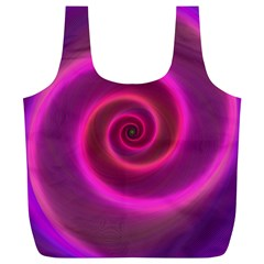 Pink Background Neon Neon Light Full Print Recycle Bags (l)