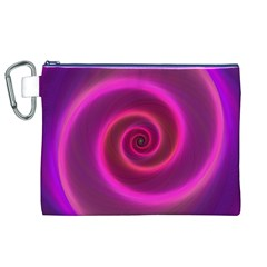 Pink Background Neon Neon Light Canvas Cosmetic Bag (xl)