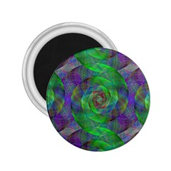 Fractal Spiral Swirl Pattern 2 25  Magnets
