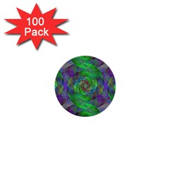 Fractal Spiral Swirl Pattern 1  Mini Buttons (100 Pack)