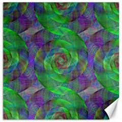 Fractal Spiral Swirl Pattern Canvas 12  X 12