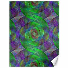 Fractal Spiral Swirl Pattern Canvas 36  X 48