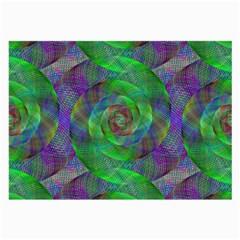 Fractal Spiral Swirl Pattern Large Glasses Cloth (2 Side)
