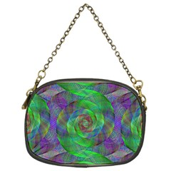 Fractal Spiral Swirl Pattern Chain Purses (two Sides)