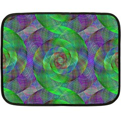 Fractal Spiral Swirl Pattern Fleece Blanket (mini)