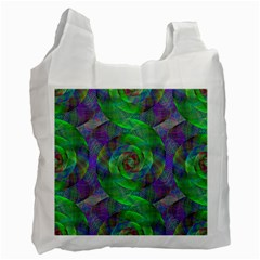 Fractal Spiral Swirl Pattern Recycle Bag (two Side)