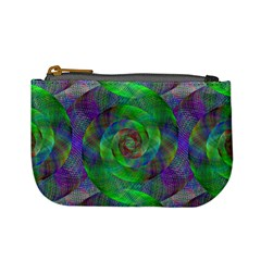Fractal Spiral Swirl Pattern Mini Coin Purses