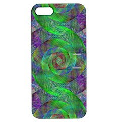 Fractal Spiral Swirl Pattern Apple Iphone 5 Hardshell Case With Stand