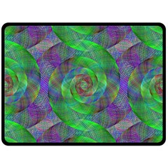 Fractal Spiral Swirl Pattern Double Sided Fleece Blanket (large)