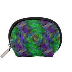 Fractal Spiral Swirl Pattern Accessory Pouches (small)