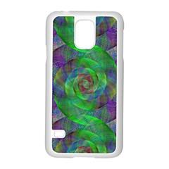 Fractal Spiral Swirl Pattern Samsung Galaxy S5 Case (white)