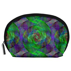 Fractal Spiral Swirl Pattern Accessory Pouches (large)