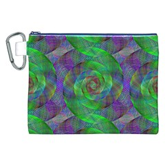 Fractal Spiral Swirl Pattern Canvas Cosmetic Bag (xxl)
