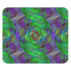 Fractal Spiral Swirl Pattern Double Sided Flano Blanket (small)