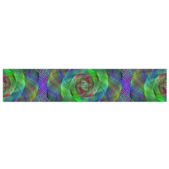 Fractal Spiral Swirl Pattern Flano Scarf (small)