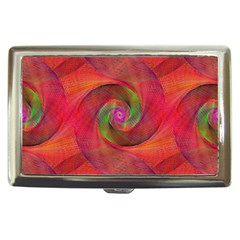 Red Spiral Swirl Pattern Seamless Cigarette Money Cases