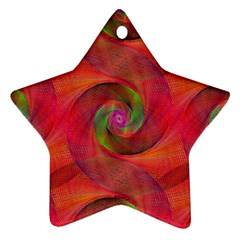 Red Spiral Swirl Pattern Seamless Star Ornament (two Sides)