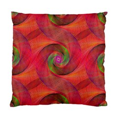 Red Spiral Swirl Pattern Seamless Standard Cushion Case (two Sides)