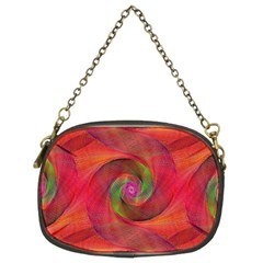 Red Spiral Swirl Pattern Seamless Chain Purses (two Sides)