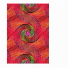 Red Spiral Swirl Pattern Seamless Large Garden Flag (two Sides)