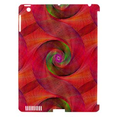 Red Spiral Swirl Pattern Seamless Apple Ipad 3/4 Hardshell Case (compatible With Smart Cover)