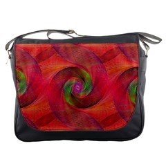Red Spiral Swirl Pattern Seamless Messenger Bags