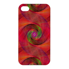 Red Spiral Swirl Pattern Seamless Apple Iphone 4/4s Premium Hardshell Case