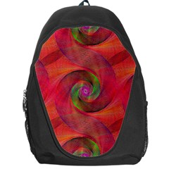 Red Spiral Swirl Pattern Seamless Backpack Bag