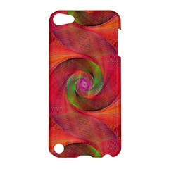 Red Spiral Swirl Pattern Seamless Apple Ipod Touch 5 Hardshell Case