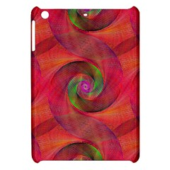 Red Spiral Swirl Pattern Seamless Apple Ipad Mini Hardshell Case