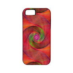 Red Spiral Swirl Pattern Seamless Apple Iphone 5 Classic Hardshell Case (pc+silicone)