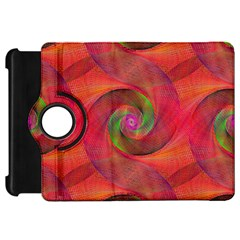 Red Spiral Swirl Pattern Seamless Kindle Fire Hd 7