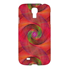 Red Spiral Swirl Pattern Seamless Samsung Galaxy S4 I9500/i9505 Hardshell Case