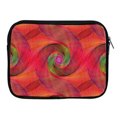 Red Spiral Swirl Pattern Seamless Apple Ipad 2/3/4 Zipper Cases