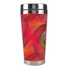 Red Spiral Swirl Pattern Seamless Stainless Steel Travel Tumblers