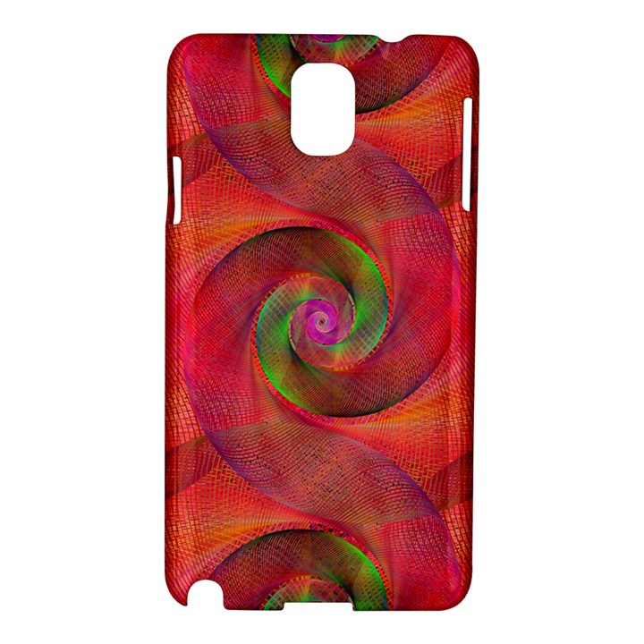 Red Spiral Swirl Pattern Seamless Samsung Galaxy Note 3 N9005 Hardshell Case