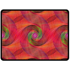 Red Spiral Swirl Pattern Seamless Double Sided Fleece Blanket (large)