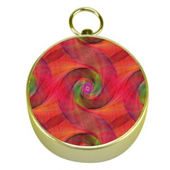 Red Spiral Swirl Pattern Seamless Gold Compasses