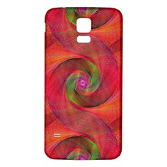 Red Spiral Swirl Pattern Seamless Samsung Galaxy S5 Back Case (white)