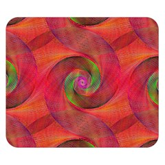 Red Spiral Swirl Pattern Seamless Double Sided Flano Blanket (small)