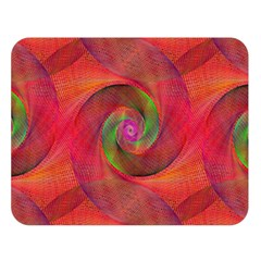 Red Spiral Swirl Pattern Seamless Double Sided Flano Blanket (large)