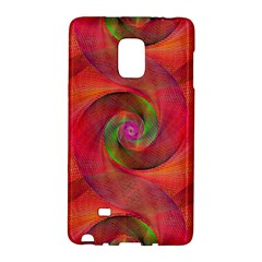 Red Spiral Swirl Pattern Seamless Galaxy Note Edge