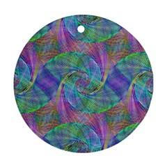 Spiral Pattern Swirl Pattern Ornament (round)