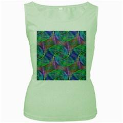 Spiral Pattern Swirl Pattern Women s Green Tank Top