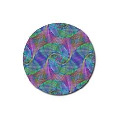 Spiral Pattern Swirl Pattern Rubber Round Coaster (4 Pack)