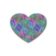 Spiral Pattern Swirl Pattern Heart Coaster (4 Pack)