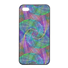 Spiral Pattern Swirl Pattern Apple Iphone 4/4s Seamless Case (black)