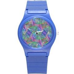 Spiral Pattern Swirl Pattern Round Plastic Sport Watch (s)