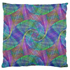 Spiral Pattern Swirl Pattern Large Cushion Case (two Sides)